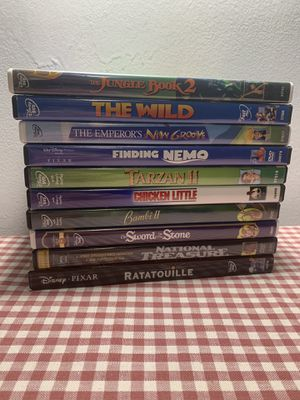 Disney Movie ten Pack (Jungle Book, Finding Nemo, national treasure, Bambi, sword in stone and more) for Sale in King of Prussia, PA