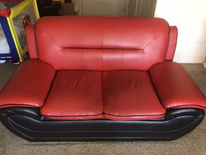 Red & Black Sofa for Sale in Washington, DC