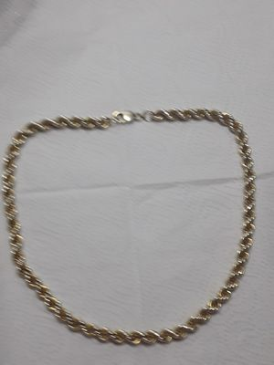 20 inch real italy 925 silver dipped in 14kt gold 8mm thick rope chain great piece 300 obo for Sale in Mechanicsburg, PA