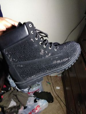 Black boots with glitter sparkles 10W for Sale in Arlington, VA