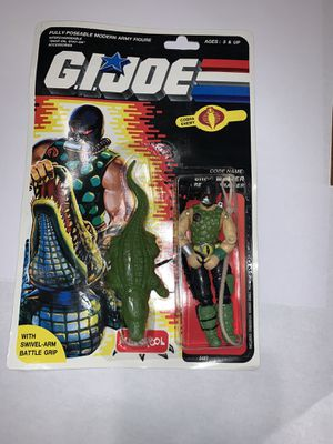 Gi Joe Action Figure Croc Master on card. for Sale in Cicero, IL