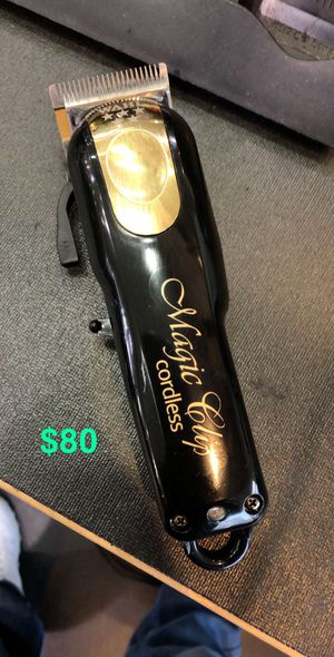 Wahl magic cordless hair clipper black and gold for Sale in Garland, TX
