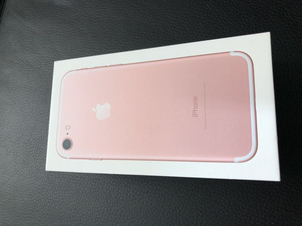 Rose gold iPhone 7 128gb box ONLY