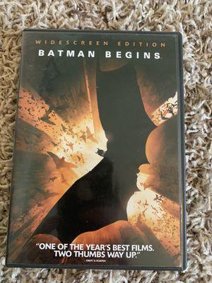 Batman begins on DVD for Sale in Hanford, CA