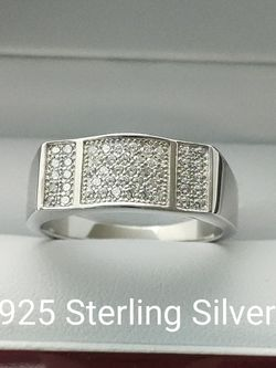 New with tag Solid 925 Sterling Silver MEN'S WEDDING Ring size 10 or 11 $150 OR BEST OFFER ** FREE DELIVERY!! 📦🚚 ** for Sale in Phoenix,  AZ