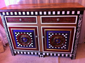 One Of A Kind Hand Decorated Sideboard! for Sale in Franklin, TN