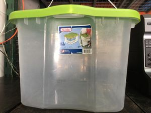 70 Qt sterility clear plastic container (set of 2) for Sale in HALNDLE BCH, FL