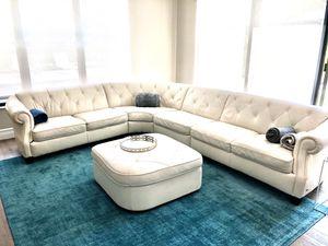 Natuzi White Leather Couch for Sale in Delray Beach, FL