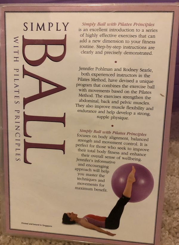 Simply ball Pilates DVD with ball and air pump