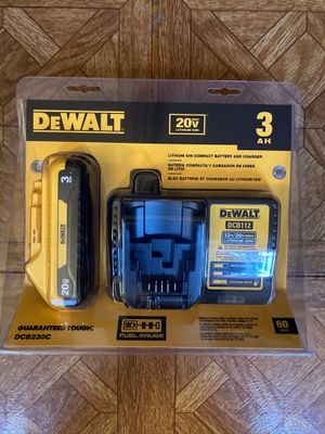 DeWalt. 12V/20V MAX Lithium Ion Charger and XR 3.0Ah Battery Pack. DCB230C. for Sale in Brooklyn, NY