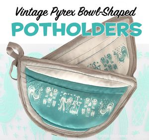 Pyrex Butterprint potholders choise blue or pink for Sale in Scottsdale, AZ