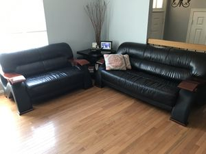 Genuine leather living room set for Sale in Burke, VA