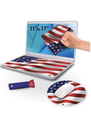 """4 in 1 Microfiber Laptop Screen Cleaning Cloth Set Keyboard Screen Protector Includes 2 Cloths, 1 Dust Brush, 1 Mousepad for 11"""" 12"""" 13"""" 14"""" 15"""" 17"""" for Sale in Hallandale Beach, FL"""