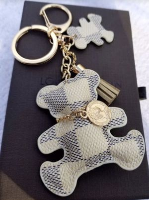 White Checked Bear Handbag Charm Brand New! for Sale in Sudley Springs, VA