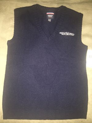 French toast Sweater vest (Size L 10-12) and brand new long sleeve shirt (Size 8) for Sale in Fairburn, GA