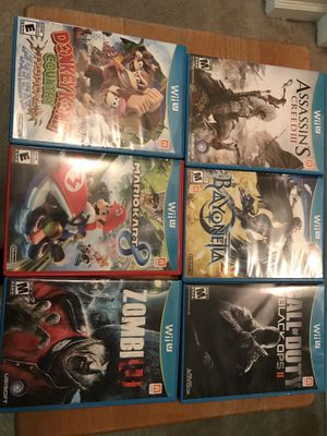 Nintendo Wii U game lot for Sale in Tampa, FL