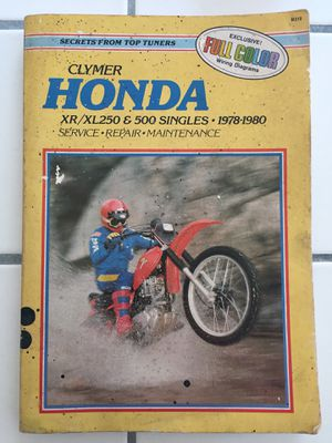 Clymer Honda Motorcycle Manual XL XR 1978-80 for Sale in Culver City, CA