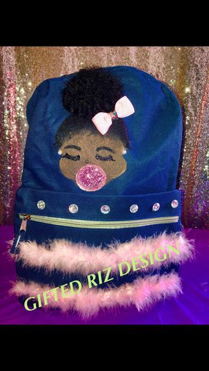 Hand painted back to school backpack for girls !!! for Sale in Hillcrest Heights, MD