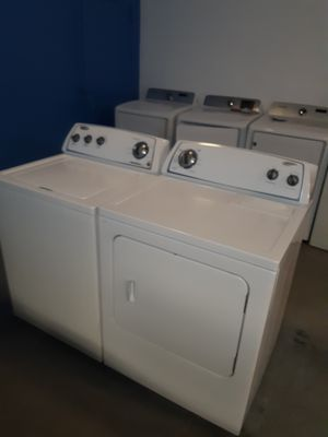 WHIRLPOOL TOP LOAD WASHER AND DRYER SET WORKING PERFECTLY 4 MONTHS WARRANTY for Sale in Baltimore, MD