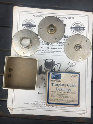 Vintage Sears Craftsman Template Guide Bushings 25069 Craftsman Router for Sale in Dayton, OH