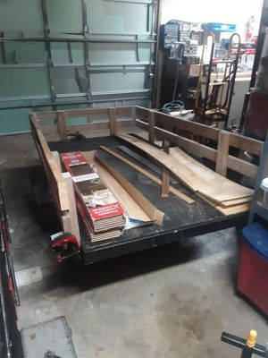 5 ft by 8 ft side wood side rails work /utility trailer for Sale in Columbus, OH