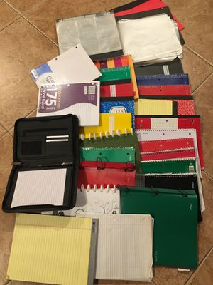 Huge bundle paper notebook graph lined school supply college binder folder rulled new for Sale in Rancho Cucamonga, CA
