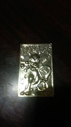 Pokemon Gold Plated MEWTWO Gold Bar Card #150 for Sale in Cleveland, OH