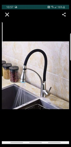 Brushed Nickel LED Light Pull Down Spray Kitchen Sink Faucet for Sale in Tamarac, FL