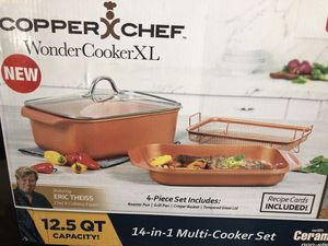 New never opened Copper chef 14-in-1 cooker set for Sale in Downey, CA