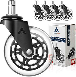 """AmeriGrip (Set of 5) Replacement Office Chair Casters - Heavy-Duty Floor Safe 3"""" Wheels with Universal Stem for Sale in Tamarac, FL"""