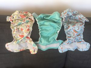 cloth diaper shells - 3 + 2 soft bums for Sale in Austin, TX