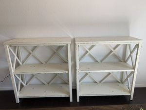 Ivory Farmhouse shelves for Sale in Northlake, TX