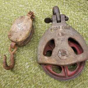 Antique logging pulleys! for Sale in Tacoma, WA