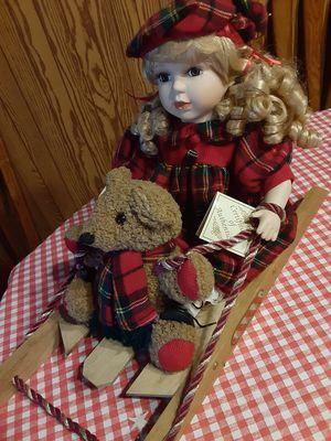 Winter sledding doll for Sale in CARPENTERSVLE, IL