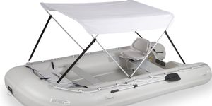 Inflatable boat, sea eagle sport runabout 14' feet long for Sale in Clifton, NJ