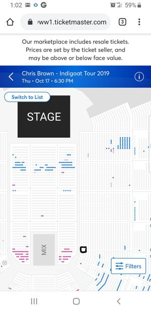 Chris brown concert for Sale in Fresno, CA
