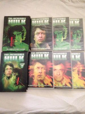 """DVD TV Vintage Series """"The Incredible Hulk""""Season 1 Incomplete Missing 3 Discs Season 2 Complete Discs In Good Condition for Sale in Reedley, CA"""