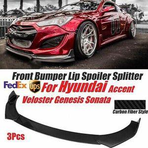 Hyundai Genesis Veloster Senata Accent Front Bumper lip Spoiler Carbon Style for Sale in Pomona, CA