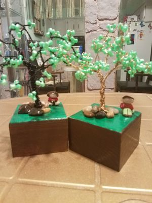 Beaded wire tree for Sale in Queens, NY