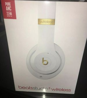 New Beats Studio 3Wireless Headphones White for Sale in Clovis, CA