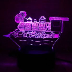 3D Illusion Night Light Old Fashion Train Engine 7 Color for Sale in Las Vegas, NV