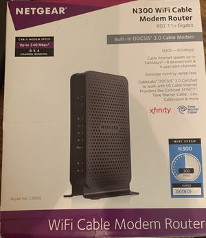 NETGEAR WiFi cable modern router xfinity for Sale in Sacramento, CA
