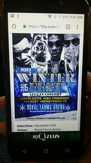92q winterfest tickets for Sale in Baltimore, MD