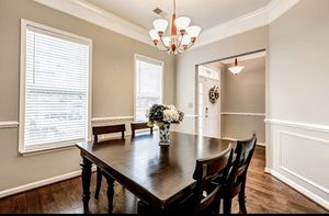Solid wood Dining room table, moving, last piece to go from inside house for Sale in South Riding, VA