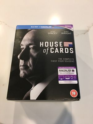 LIKE NEW 16 BLU RAY BOX SET FOR HOUSE OF CARDS SEASONS 1-4 for Sale in Frisco, TX