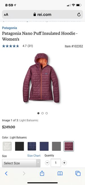 Patagonia nano puff insulated hoodie jacket for Sale in Lafayette, CA