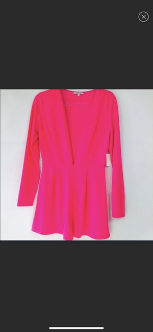 Charlotte Russe hot pink romper for Sale in Chicago, IL