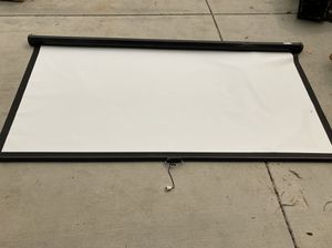 """80"""" Projection Screen for Sale in Fontana, CA"""