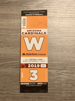 Parking Pass Only - Lions vs Cardinals $20 for Sale in Scottsdale, AZ