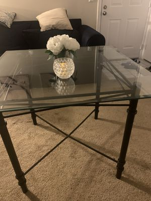 Glass table with 2 chairs for Sale in Silver Spring, MD